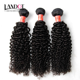 Wholesale Kinky Curl Human Weave Hair - Brazilian Curly Human Hair Weaves 3 Bundles Unprocessed 8A Peruvian Malaysian Indian Cambodian Mongolian Jerry Kinky Curls Hair Extensions