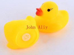 Wholesale Baby Soft Sounds - Free shipping Cute Soft Rubber Float Sqeeze Sound Baby Wash Bath Toys Play Animals Toys Hot selling