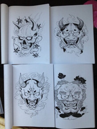 Wholesale Mosher Tattoo - Japanese painting Designs Tattoo books by Horimouja Jack Mosher A4 size Vol.2 the HANNYA Design Sketch Flash Tattoo Book