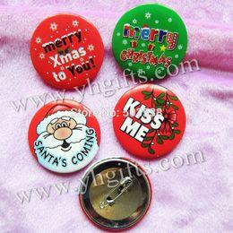 Wholesale Cloth Goody Bags - 100PCS LOT,4cm(1.6 inch),Mix 4 design christmas badge,X'mas ornament,Cloth button,Fashion pins,X'mas brooch.Team logo,Goody bag