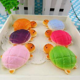Tartarughe giocattolo morbido online-7cmx4 .5 Cm Kawaii Soft Yellow Turtle Bun Tartarughe Squishy Cinghie per telefono Pane tartaruga Portachiavi 1 Pz Decompression Toy