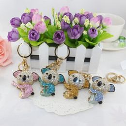 Wholesale Kawaii Rhinestones - New Design Kawaii Cute Koala Car Keyring Gift, Key chain,Purse handbag Charms,Nice Gift Real Gold Plated Alloy Keyring,free shipping