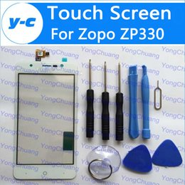 Wholesale Zopo Phones - Wholesale- Zopo Zp330 Touch Screen Digitizer Glass Panel Assembly Replacement For ZOPO ZP330 Phone- In Stock Free Shipping