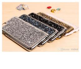 Wholesale Gold Diamond Iphone Shell - iPhone6 phone case six crystal diamond drill diamond shell