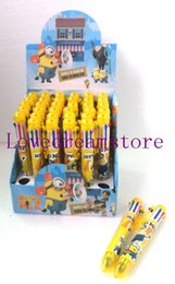 Wholesale Despicable New - New Product 2015 36 Pcs  Box New multicolor children Cartoon Despicable Me 6 Color Ballpoint pen Stationery Christmas gift
