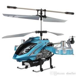 Wholesale Avatar Metal Gyro 4ch - New Version Avatar F103 4CH IR 2.4Ghz Remote Control Mini Metal Gyro RTF 4 Channel RC Helicopter LED Gyro Blue Toy A5