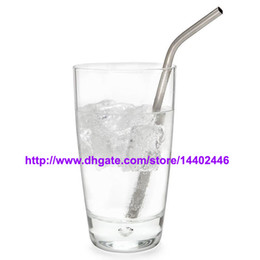 """Wholesale Metal Drink - DHL Free shipping 200pcs lot Stainless Steel Straw Steel Drinking Straws 8.5"""" 10g Reusable ECO Metal Drinking Straw Bar Drinks Party Stag"""