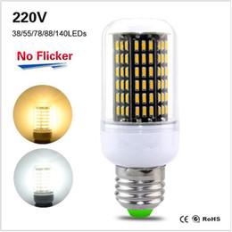 Light Bulb Suppliers Uk: ... UK AU Lampada Led lamp 220V 230V E27 4020 Corn Bulb No flicker 38 55 78  88 140Leds 110V 127V Light Brighter Than 5730 Lights from dropshipping  suppliers,Lighting