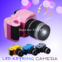 Wholesale Toys Keychain Camera - Wholesale-factory direct SLR camera sound led keychain light keyring toy wholesale BS-032