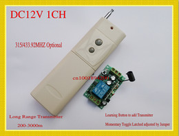Wholesale remote 12v off switch - Long Range Remote Control Switch 12V DC 1CH RF Wireless Switches Light Lamp LED Remote ON OFF Controller 315 433 Receiver Transmitter TX RX