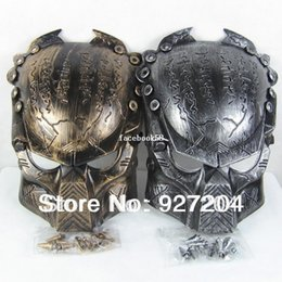 Wholesale Predator Masks - 2014 New Colors Iron Man Style AVP Costume Masks Supper Replica Alien Vs Predator Mask Warrior Movie Prop AVPR Soldier