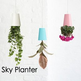 Wholesale Small Pot For Flowers - Plastic Hanging Garden Pot Purified Air Upside Down Type Sky Planter Water Saving And Drought Resistant Flowerpot For Office 21cx B