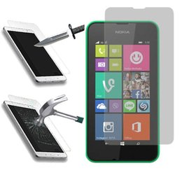 Wholesale Screen Protectors Lumia - Nokia Lumia 630 530 1020 1320 1520 Tempered Glass Screen Protector 0.2MM 9H 2.5D Arc Glass Explosion Proof With Retail Package free DHL