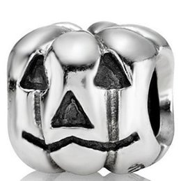 Wholesale Female Pumpkin - New! Wholesale Halloween Pumpkin Charm 925 Sterling Silver Bead Compatible With Snake Chain Bracelet Female Jewelry European Charms