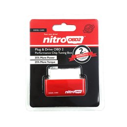 Wholesale Diesels Chip - 2015 New Arrival NitroOBD2 Chip Tuning Box Nitro OBD2 Performance Plug and Drive OBD2 Chip Tuning Works For Diesel Retail Box