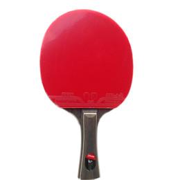Raqueta de plástico online-Al por mayor- Ebano de cinco pisos de madera pura raqueta de tenis de mesa de doble cara anti-plástico