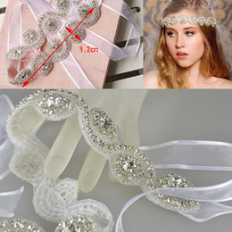 Wholesale Elegant Rhinestone Headbands - 2015 Romatic Cheap Bridal Crown Tiaras Wedding Jewelry Bohemia Hair Accessories Elegant Headpieces Frontlet Hair Band headbands for Bridal