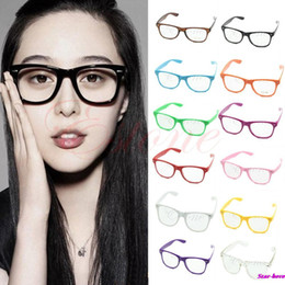 Wholesale Cool Nerd Glasses - Wholesale- Fashion Glasses Cool Unisex Clear Lens Nerd Geek Glasses Eyewear For Men Women