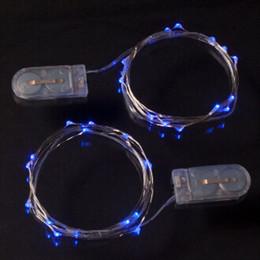 decorazioni di illuminazione per eventi di festa Sconti LED Copper Silver Wire String Fata CR2032 Battery Power Operated per Natale Decorazione natalizia Home Party evento matrimonio Illuminazione 2M
