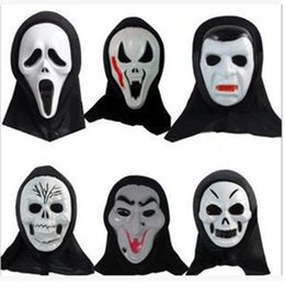 Wholesale Ghost Scream Mask - Halloween Christmas Death to the monolithic horror ghost mask Halloween grimace scream masks for masquerade balls 110126