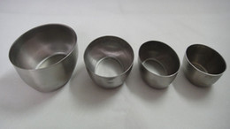Wholesale Vessel Bowls - HX022 4pcs egg shape style all stainless steel bowl ,Hu Zao basin , metal cup,metal vessel