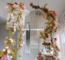 Wholesale Xmas Lights For Sale - 20% OFF Wedding decoration Hot Sale Artificial Fake Silk Rose Flower Vine Hanging Garland Wedding Home Decor For Xmas a2