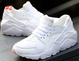 Wholesale Wide White Lace - (NO Box)Air Huarache Ultra Running Shoes For Men Women,Woman Mens Black White Air Huaraches Huraches Sports Sneakers Athletic Trainers