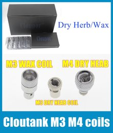 Wholesale Dry Cartomizer - for Cloutank Series M4 M3 Dry Herb   Wax Core head for Cloupor Rebuildable atomizer Vaporizer coil head cartomizer Replacement FJ030