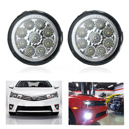 Wholesale Daytime Running Led Nissan - 2pcs H11 Car Styling DRL Daytime Running Lights Front Bumper LED Fog Light Lamp For Nissan Sylphy Qashqai March Geniss Livina