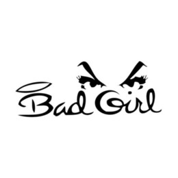 Wholesale Windshield Decal For Girls - Bad Girl Vinyl Decal Sticker For Coolers Car or Truck Windows, Laptops, etc