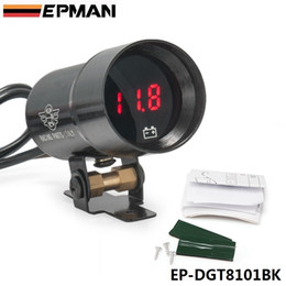 Wholesale Digital Volt Gauges - EPMAN 37mm - Compact Micro Digital Smoked Lens Volt Battery Gauge Auto gauge Black EP-DGT8101BK Have in stock