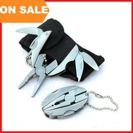 Wholesale Combination Pliers Tools - Multi function Pliers mini folding tongs including screwdriver filer knife keychain outdoor equipment hand tools tortoise pliers 250020