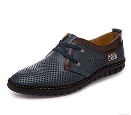 Wholesale Black Shoes Groom Men - 2017 summer Latest Groom dress shoes Men's breathable Hollow out PU leather shoes for men's Hole hole leather sandals NXX141