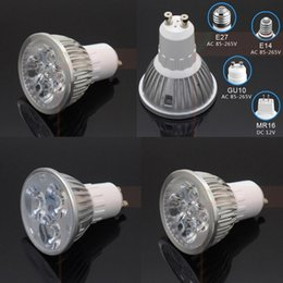 Wholesale 12v Dc Light Bulbs E27 - 6W 8W 10W 3 4 5*2w Led Plant Grow Light E27 E14 GU10 MR16 AC 110v 220v DC 12v for flowering plant hydroponics system bulb lamp