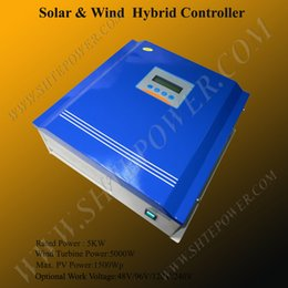 Wholesale Hybrid Charge Controllers - 96v 5000W small hybrid charge controller, 5000W solar and wind controller