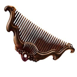 Wholesale Wooden Hair Double Combs - Mybasy 1PCS Natural Double Carved wooden comb Handmade wood hair combs upmarket gift combs for women high quality