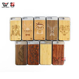 Wholesale Ten Phones - Wood Mobile Accessories Shockproof Waterproof Cell Phone Case For iPhone ten Engraving Pattern Metal Cover for Apple