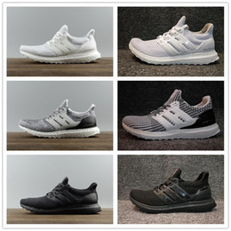Wholesale Runner Lights - 2018 Ultra runner 3.0 4.0 Triple Black white CNY oreo blue men Running Shoes UltraBoosts Primeknit trainer sports sneaker size 36-46