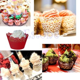 Wholesale Order Cake Supplies - 12pcs Clouds Pattern Hollow Out Cake Paper Wrapper Cupcake Wedding Decor Supply order<$18no track
