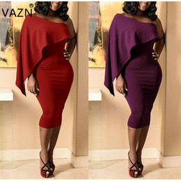 2019 viktorianisches kurzes kleid kostüm VAZN Top Qualität Neue 2018 Club Kleid Eine Hülse Verband Bodycon Kleid Slash Neck Sexy Frauen Kleid L0157 q171118