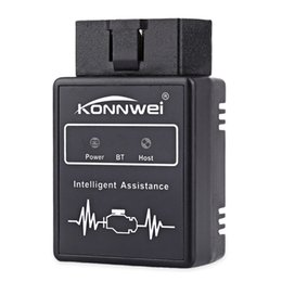Wholesale Obdii Professional Diagnostic - Wholesale- Konnwei KW912 Car Scaner Code Reader OBD2 Car Diagnostic Scan Tool Bluetooth OBDII Professional Solution for iOS Android System