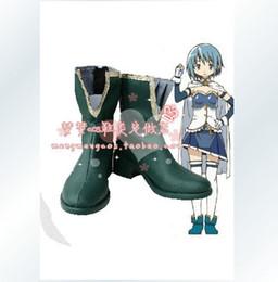 Wholesale Sayaka Miki Cosplay Costume - Wholesale-Puella Magi Madoka Magica Sayaka Miki Cosplay Shoes Boots
