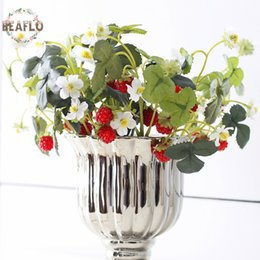 Wholesale mulberries flowers - 10pc Vivid Fruit Artificial Flower Fake Acrylic Strawberry Handmade Diy Mulberry For Wedding Home Party Decorative