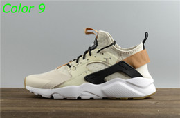Wholesale Breathe Lighting - 2017 Huarache Breathe Running Shoes For Men Women,Woman Mens navy blue tan Air Huaraches Multicolor Sneakers Athletic Trainers