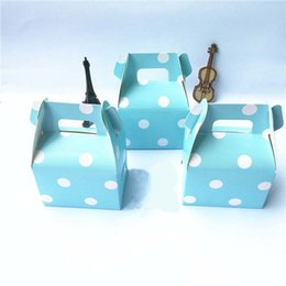 Wholesale Handbag Favor Box - candy box bag chocolate paper gift package for Birthday Wedding Party favor Decor supplies DIY baby shower dot strip wave handbag style