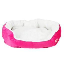 Wholesale iron fleece - Puppy Dog Kennel Plush Mat Warm Winter Pet Dogs Fleece Nesting Bed House Hot