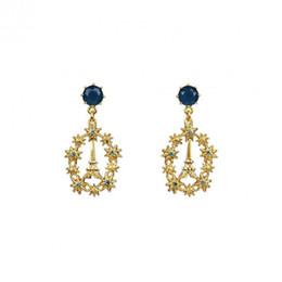 Wholesale eiffel earrings - French romantic fashion zircon earrings Paris lovers of the Eiffel Tower diamond star earrings earrings women's accessories