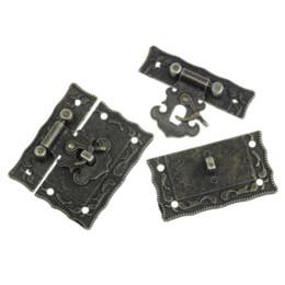 Wholesale China Lock Wholesale - 2x5Sets Box Suitcase Toggle Latch Buckles Bronze Tone 5.1cm x2.9cm buckle china buckle strap