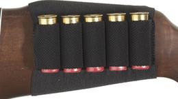 держатель винтовки Скидка Оптово-Shotgun Rifle Shell Патрон Держатель 5 снарядов Черный прикладом Бесплатная доставка