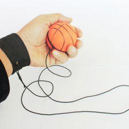 Wholesale Fluorescent Boards - 60mm Fun Bouncy Fluorescent Rubber Ball Wrist Band Ball Board Game Funny Elastic Ball Training Antistress Random Color